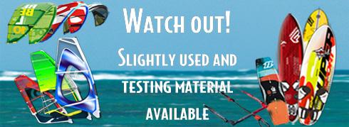 Windsurf Testmaterial